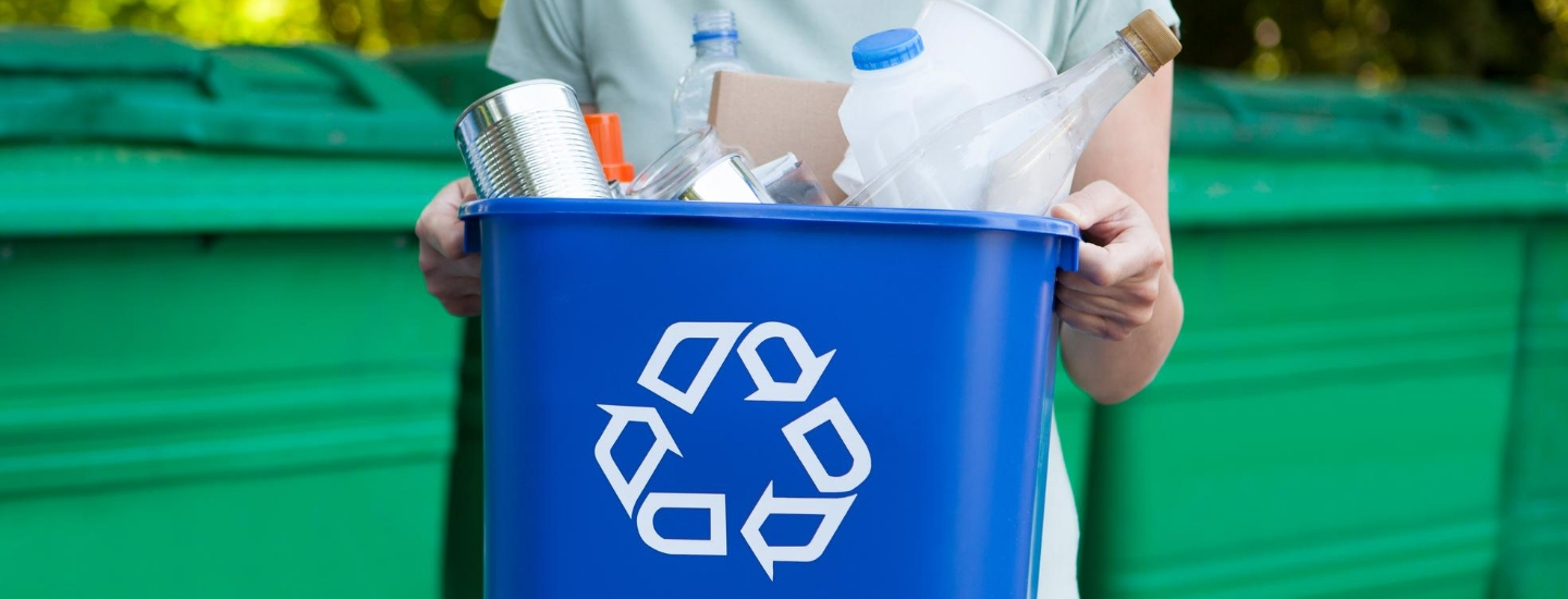 Students recycling